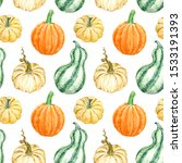 Watercolor Autumn Pumpkin...