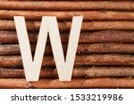 Letter W Of Wood Made Alphabet  ...