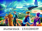 an imagery illustration of a... | Shutterstock .eps vector #1533284039