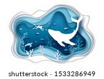 vector layered paper cut style... | Shutterstock .eps vector #1533286949