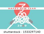 japanese new year's card in... | Shutterstock .eps vector #1533297140