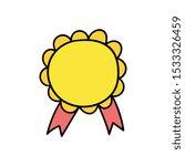 cartoon blank medal with...