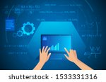 mathematics and physics on... | Shutterstock .eps vector #1533331316