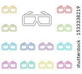 cinema  glasses  3d multi color ...