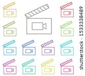frame movie  clapperboard multi ...