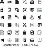 paper vector icon set