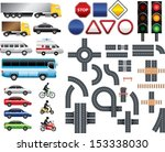 road map toolkit big vector set | Shutterstock .eps vector #153338030