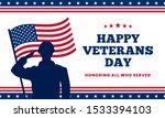 happy veterans day honoring all ... | Shutterstock .eps vector #1533394103