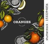 citrus design template. hand... | Shutterstock .eps vector #1533394856