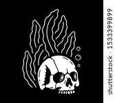 seaweed with skull    Shutterstock .eps vector #1533399899