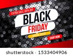 modern black friday banner with ... | Shutterstock .eps vector #1533404906