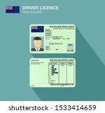 new zealand car driver license... | Shutterstock .eps vector #1533414659