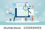 organic seo concept with team... | Shutterstock .eps vector #1533434453