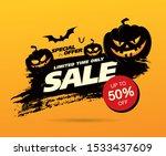 Halloween Sale Banner Layout...