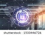 creative glowing digital... | Shutterstock . vector #1533446726