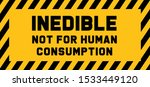 caution inedible not for human... | Shutterstock .eps vector #1533449120