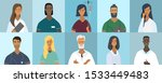 collection of doctor portraits... | Shutterstock .eps vector #1533449483
