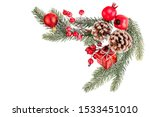 christmas tree branches with... | Shutterstock . vector #1533451010