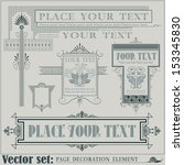 vector decorative elements for... | Shutterstock .eps vector #153345830