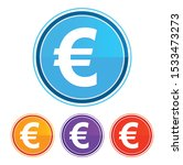 euro sign icon flat design... | Shutterstock .eps vector #1533473273