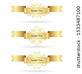 set of gold ribbons isolated on ... | Shutterstock .eps vector #1533487100
