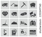 vector black  mining icons set | Shutterstock .eps vector #153349760