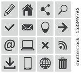 vector black  web icons set | Shutterstock .eps vector #153349763