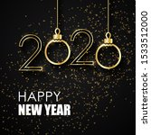happy new  year greeting card... | Shutterstock . vector #1533512000