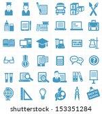 education icon set vector | Shutterstock .eps vector #153351284