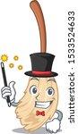 magician broom behind in the... | Shutterstock .eps vector #1533524633