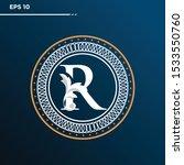 letter r logo vintage . letter... | Shutterstock .eps vector #1533550760