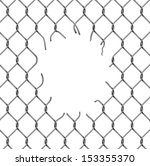 torn fence chain  vector... | Shutterstock .eps vector #153355370