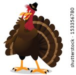 whispering cartoon turkey. eps... | Shutterstock .eps vector #153356780