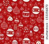 red christmas seamless pattern. ... | Shutterstock .eps vector #153356870