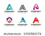 set of letter a logo icons... | Shutterstock .eps vector #1533582176