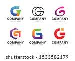 set of letter g logo icons... | Shutterstock .eps vector #1533582179