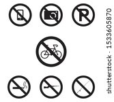 prohibited sign icon set. no... | Shutterstock .eps vector #1533605870