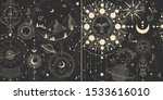 vector illustration set of moon ... | Shutterstock .eps vector #1533616010