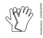 hand gloves vector icon.... | Shutterstock .eps vector #1533619949