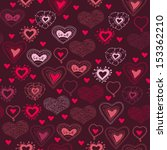 romantic seamless pattern with... | Shutterstock .eps vector #153362210
