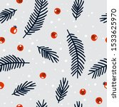 christmas seamless pattern with ... | Shutterstock .eps vector #1533625970