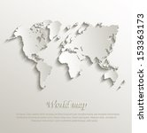 world map card paper 3d natural ... | Shutterstock .eps vector #153363173