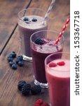 fruit smoothies | Shutterstock . vector #153367718