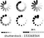 download progress icon set.... | Shutterstock .eps vector #153368564