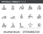 physical therapy vector line... | Shutterstock .eps vector #1533686210