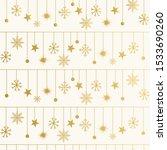 golden elegant winter pattern... | Shutterstock .eps vector #1533690260