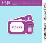 retro purple ticket icon... | Shutterstock .eps vector #1533691490