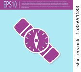 retro purple compass icon... | Shutterstock .eps vector #1533691583