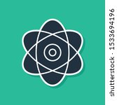 blue atom icon isolated on... | Shutterstock .eps vector #1533694196