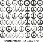 Set Of Isolated Stylized Peace...